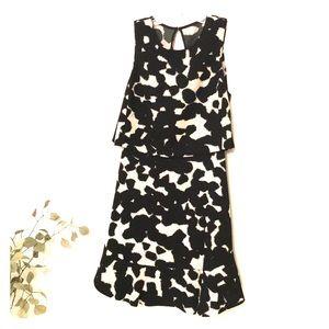 ✨Gorgeous Banana Republic Black/Tan shift dress 2
